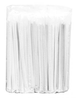 Трубочка черная индивидуально упакованная, d5 мм, 21 см, 200 шт