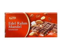 Шоколад молочный с миндалём Karina Edel Rahm MANDEL, 200 г