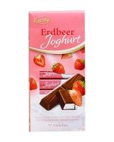 Шоколад молочный с начинкой клубничный йогурт Karina Erdbeer Joghurt STRAWBERRY YOGHURT STICKS, 200 г