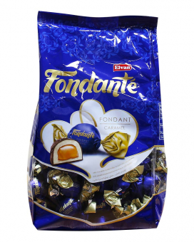 Конфеты шоколадные с карамельной начинкой Elvan Fondante Caramel, 1 кг