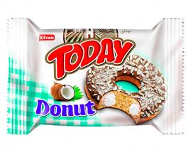 Пончик бисквитный кокосовый Elvan TODAY DONUT COCONUT, 50 г
