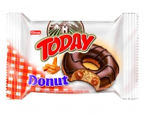 Пончик бисквитный карамельный Elvan TODAY DONUT CARAMEL, 50 г