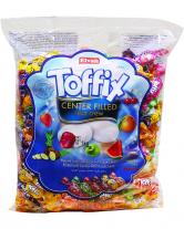 Конфеты жевательные фруктовые Elvan Toffix MIX, 1 кг