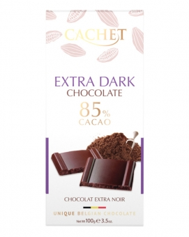 Шоколад Cachet экстра черный 85%, 100 г