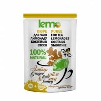 """Пюре фруктовое для чая, коктейлей """"Имбирь-лайм-мед"""" LEMO, 40 г (премикс, основа)"""