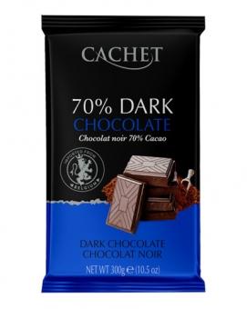 Шоколад Cachet экстра черный 70%, 300 г