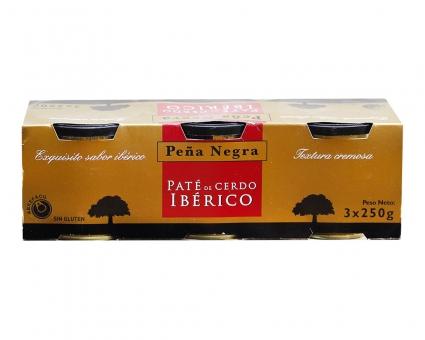 Паштет печеночный свинной иберийский Pena Negro Iberico Pate, 3шт*250г