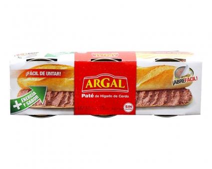 Паштет печеночный свиной Argal Pate, 3шт*83г