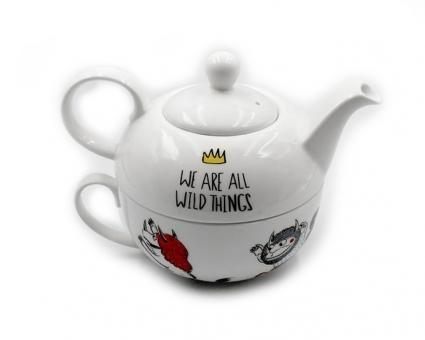 Набор Эгоист: чашка 340 мл и чайник 375 мл Wilmax (Чудища)