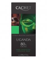 Шоколад Cachet экстра черный Uganda 80%, 100 г