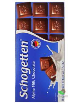 Шоколад Schogetten Alpine Milk Chocolate, 100 г