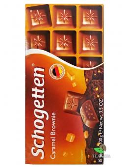 Шоколад Schogetten Caramel Brownie, 100 г