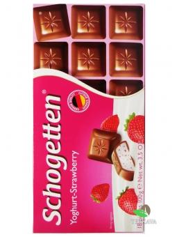 Шоколад Schogetten Yoghurt-Strawberry, 100 г
