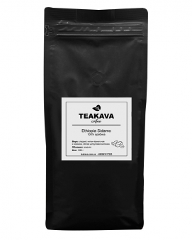 Кофе в зернах Teakava Ethiopia Sidamo, 1 кг (моносорт арабики)