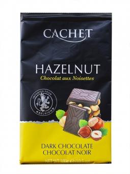 Шоколад Cachet черный с лесными орехами 54%, 300 г