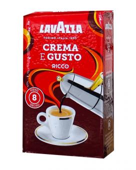Кофе молотый Lavazza Crema e GustoRicco, 250 г (80/20)