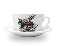 Чашка Белый кролик джамбо Wilmax 250мл с блюдцем