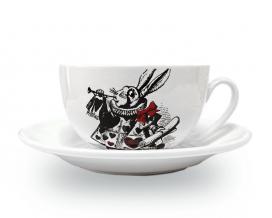 Чашка с блюдцем Wilmax Белый кролик джамбо, 250 мл