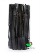 Трубочка черная (ПП), d5 мм, 21 см, 200 шт
