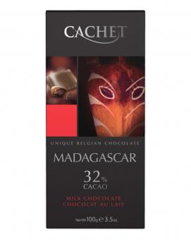 Шоколад Cachet молочный Madagascar 32%, 100 г