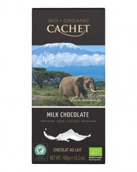 Шоколад Cachet Bio Organic молочный 40%, 100 г