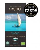 Шоколад Cachet Bio Organic экстра черный с морской солью 72%, 100 г