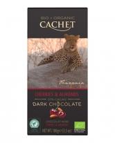 Шоколад Cachet Bio Organic черный с вишней и миндалем 57%, 100 г
