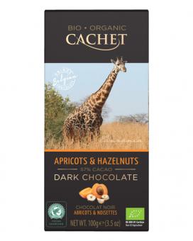 Шоколад Cachet Bio Organic черный с абрикосом и фундуком 57%, 100 г