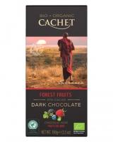 Шоколад Cachet Bio Organic черный с лесными ягодами 57%, 100 г