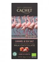 Шоколад Cachet Bio Organic молочный с соленой карамелью 40%, 100 г