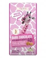 Шоколад Cachet черный с миндальным печеньем 60%, 180 г
