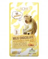 Шоколад Cachet молочный с бананом и ириской 40%, 180 г