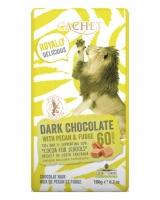 Шоколад Cachet черный с орехом-пекан и ириской 60%, 180 г