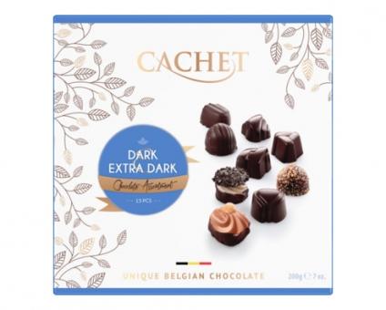 Конфеты шоколадные Cachet с черным и экстра-черным шоколадом, 200 г