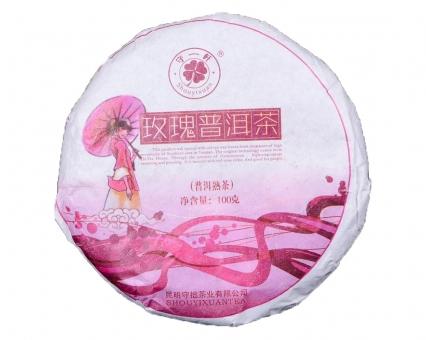 """Чай Шу Пуэр """"Роза"""" Shouyixuan, 100 грамм"""