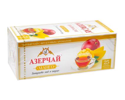 """Чай черный Azercay """"Манго"""", 1,8г*25 шт (ароматизированный чай в пакетиках)"""