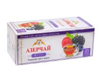 """Чай черный Azercay """"Ягодный микс"""", 1,8г*25 шт (ароматизированный чай в пакетиках)"""
