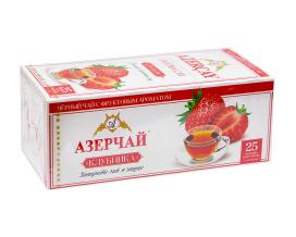 """Чай черный Azercay """"Клубника"""", 1,8г*25 шт (ароматизированный чай в пакетиках)"""