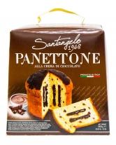 Паска с шоколадным кремом и кусочками шоколада Santangelo PANETONE alla crema di cacao, 908 г