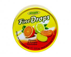 Леденцы со вкусом лимон-апельсин Woogie Fine Drops Zitronen & Orangen, 175 г