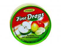 Леденцы со вкусом яблока Woogie Fine Drops Bonbons mit Apfelgeschmack, 200 г
