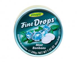 Леденцы со вкусом мяты Woogie Fine Drops Mint bonbons, 200 г