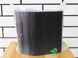 Трубочка фреш черная, d8, 21см, 500 шт