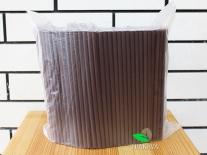 Трубочка фреш коктейльная шоколадная, d8, 21 см, 500 шт
