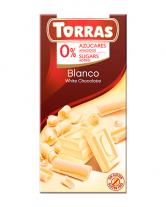 Шоколад белый без сахара, без глютена TORRAS 27%, 75 г