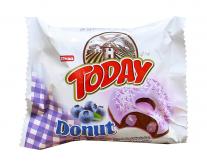 Пончик бисквитный черничный Elvan TODAY DONUT BLUEBERRY, 50 г