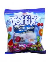 Конфеты жевательные фруктовые Elvan Toffix MIX, 90 г
