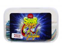 Жевательные конфеты со вкусом тутти-фрутти YOUY & CO Sour Strips Rainbow, 225 г