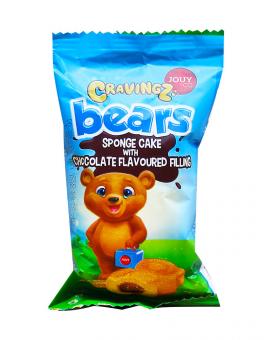 Пирожное Барни с шоколадным кремом YOUY & CO Cravings Bears Chocolate Filling, 45 г