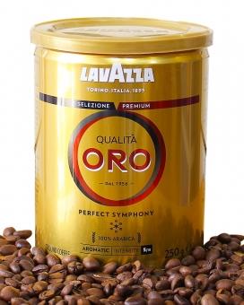 Кофе молотый Lavazza Qualita Oro 100 % арабика, 250 г (ж/б)